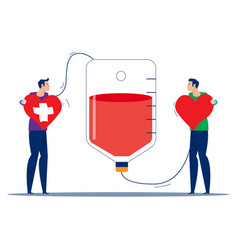 People make blood donations and receive donations vector