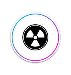 radioactive icon isolated on white background vector image