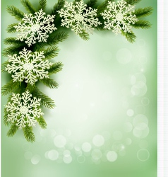 retro background with christmas tree vector image