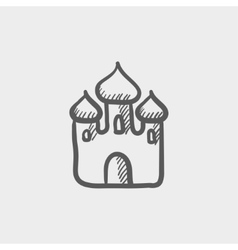 Saint Basil cathedral sketch icon vector image