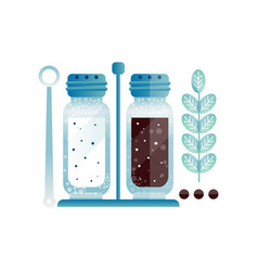 salt and pepper pair of glass shakers with cap vector image