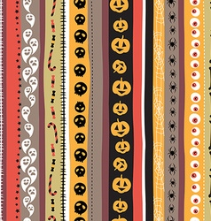 Seamless pattern Vintage Happy Halloween Flat vector