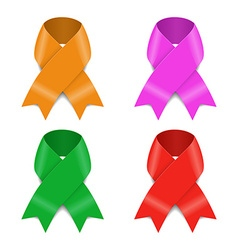 Set of Awareness ribbons vector