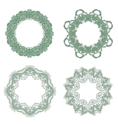 Set of Baroque Lace Frame vector