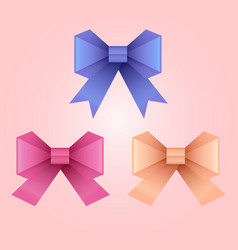set of of paper origami bows for your design vector image