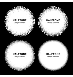 Set of WhiteHalftone Dots Circles vector image