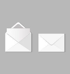 set two blank realistic envelopes vector image