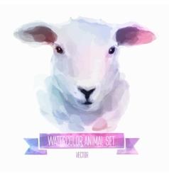 set watercolor cute sheep vector image