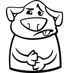 sick dog cartoon coloring page vector image