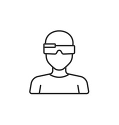 smart glasses icon vector image