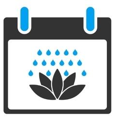 Spa Shower Calendar Day Toolbar Icon vector