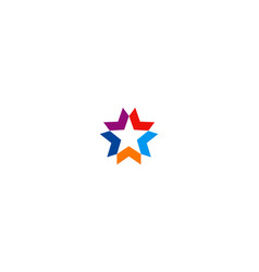 star colored shape company logo vector image