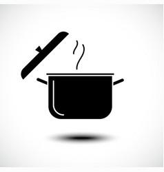 Stew pan icon boil or stew food symbol vector