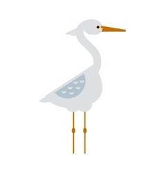 Stork standing sarus crane cartoon vector image