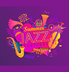 summer jazz musical festival vector image