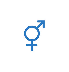 transgender symbol related glyph icon vector image
