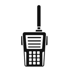 walkie talkie icon simple style vector image