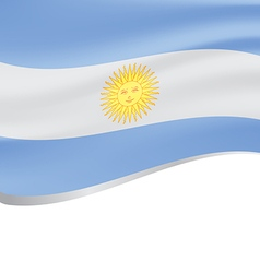 Waving flag of Argentina on white background vector