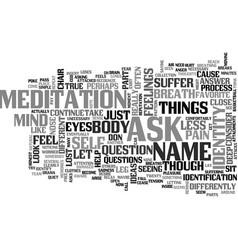 Who am i text word cloud concept vector