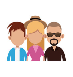 young people icon vector image