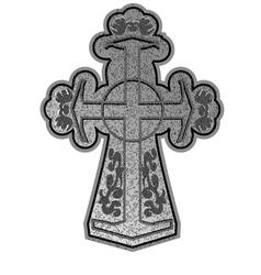 ancient cross vector image vector image