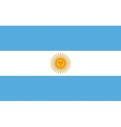 Argentinian flag vector image vector image
