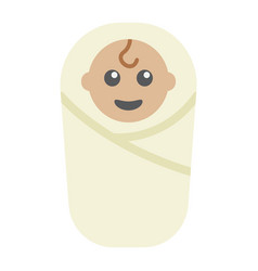 baby birth flat icon kid and newborn vector image vector image