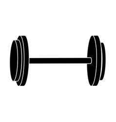 dumbbell weight gym equipment image silhouette vector image vector image