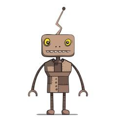 Funny cartoon robot vector image
