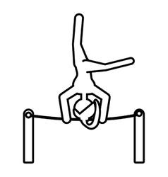 girl athlete artistic gymnastic outline vector image