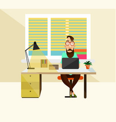 office worker at workplace vector image
