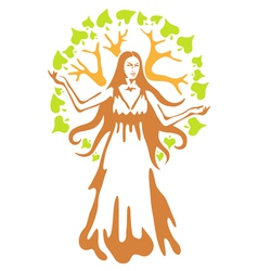 panacea - ancient greek goddess vector image vector image