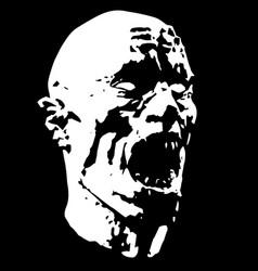 zombie screams head vector image