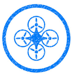 air drone rounded grainy icon vector image