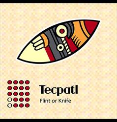 Aztec symbol Tecpatl vector image vector image