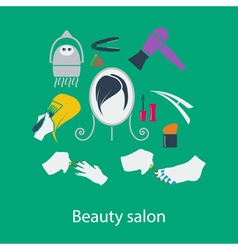 Beauty salon flat design vector image