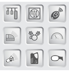 Car part and service icons set 6 vector image