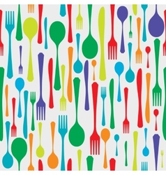 Cutlery background color vector image vector image