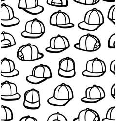 doodle snapbacks vector image vector image