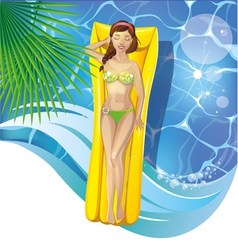 girl in pool vector image vector image