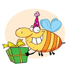 Grinning Bumbe Bee With A Stinger vector image vector image