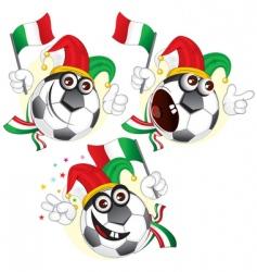 Italian cartoon footballs vector image