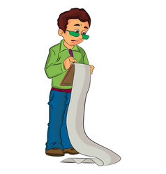 man holding a clipboard vector image