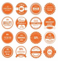 Set of label vintage vector image