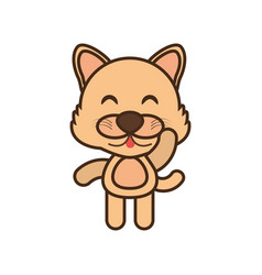 baby wolf animal funny image vector image