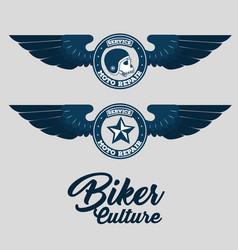 biker for life emblem vector image