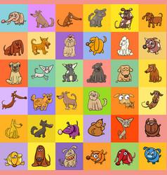 cartoon dogs background design vector image