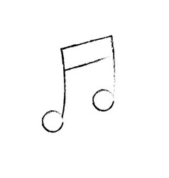 Figure musical note trhythm notation icon vector