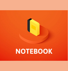 notebook isometric icon isolated on color vector image