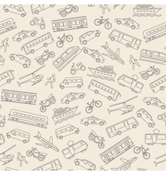 Transportation seamless background vector image